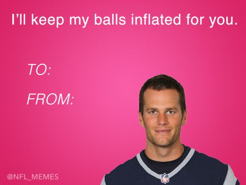 This Year S Batch Of Nfl Themed Valentines Day Cards Dailysnark Com Valentines Day Memes Valentines Memes Valentines Day Card Memes