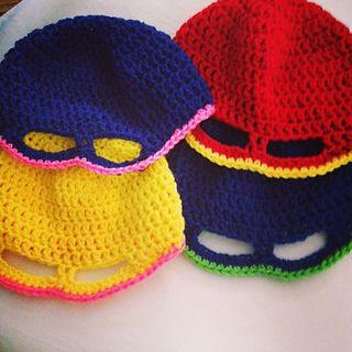 This is an easy to make Super Hero Mask!