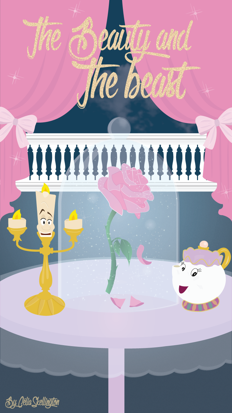Beauty And The Beast Iphone Wallpaper Lock Screen Panpins