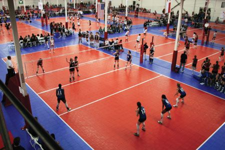 Snapsports Official Volleyball Courts For Usa And The World Over Indoor Basketball Court Basketball Court Backyard Indoor Volleyball
