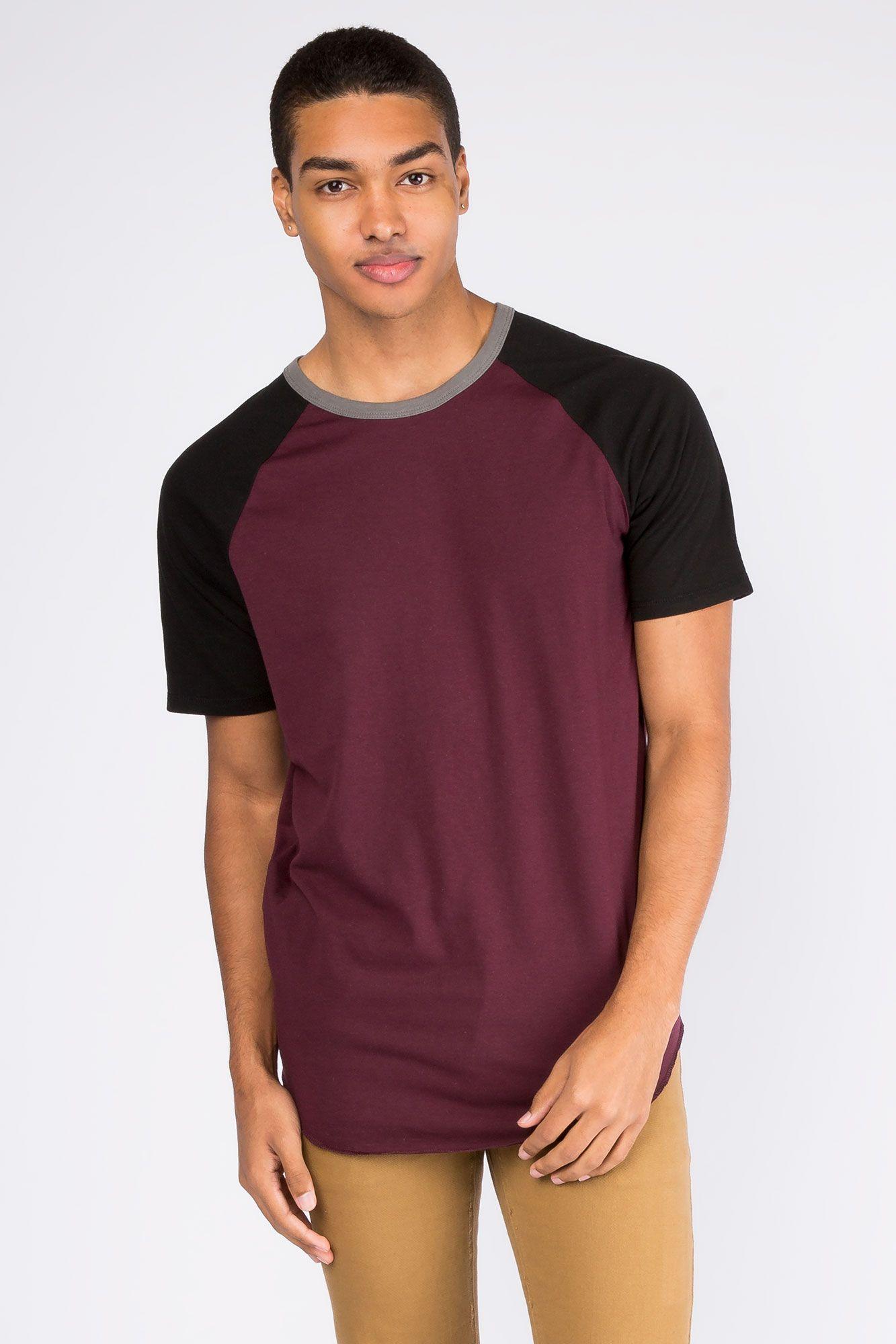 Guys S/S Raglan Colour Black knit