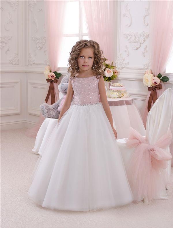 aa4c31edc07 Платья на 5-6 лет   Платье кремово-розовое - Butterfly-dress.com- Детские  нарядные платья