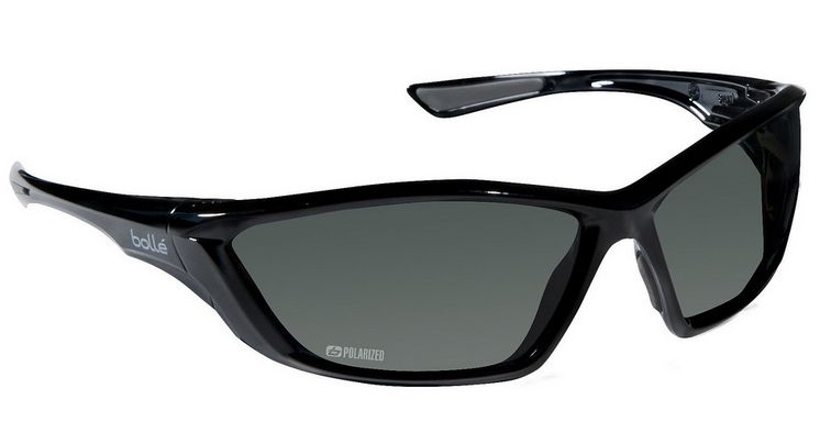 Bolle swat tactical safety glasses with shiny black frame