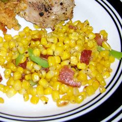 Side Dish, Fried Corn With Bacon, A Side Dish Combining Fresh Corn, Bacon And Green Pepper. This Is Not A Low Fat, Low Calorie Dish But It Sure Is Good. It Can Be Made Ahead And Refrigerated Until You Are Ready To 'Fry' It.