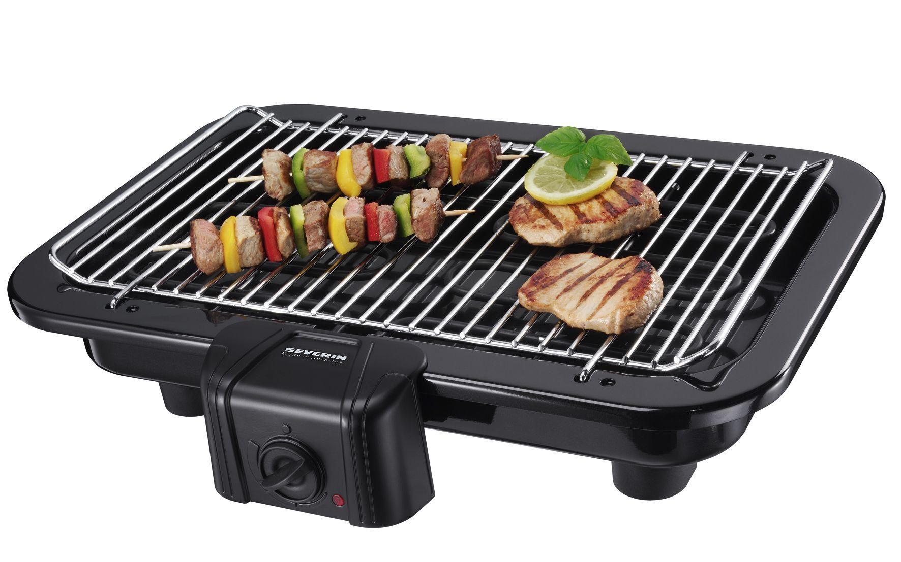 Severin Pg 2791 Barbecue Elektrogrill Schwarz : Barbacoa 2790 potencia 2500 w capacidad aprox. 1066 cm² dimensiones