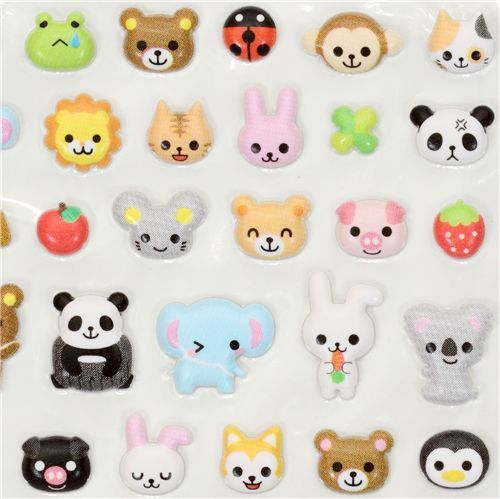 Kawaii Animals Sponge Sticker Q Lia From Japan 160399 1 Jpg 500 499 Kawaii Animals Kawaii Stickers Japanese Cartoon Characters