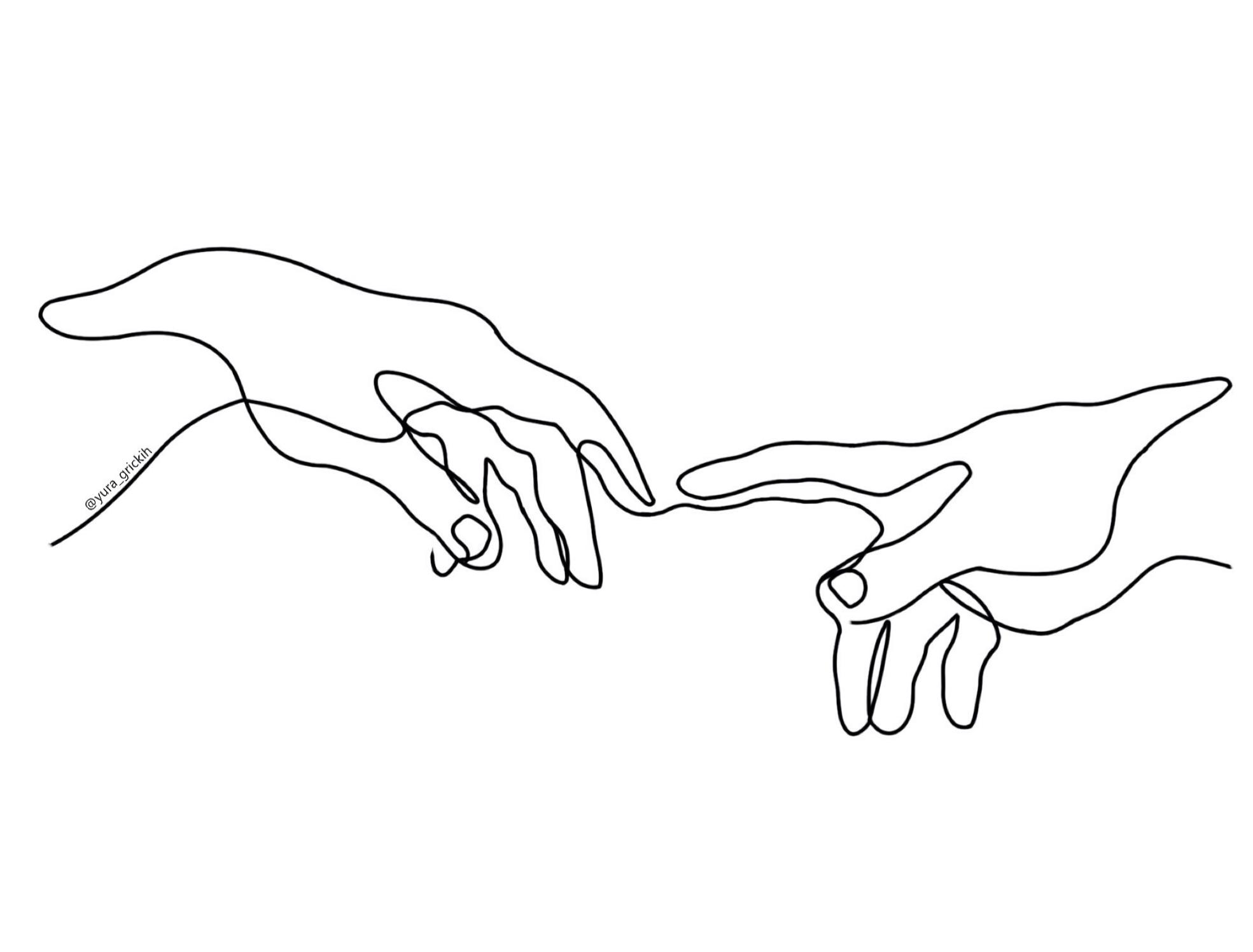 две руки тянутся друг к другу картинки черно белые самых модных