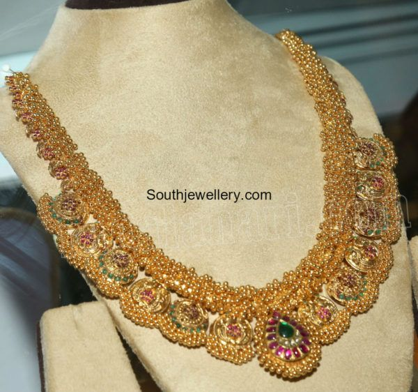 Traditional Gold Haram photo jewels of India Pinterest