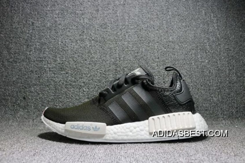 535c4d4fb1fba Adidas NMD R1 S76906 Black White Olive Mens And Womens Shoes Lastest ...
