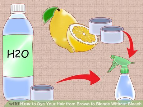 Dye Your Hair From Brown To Blonde Without Bleach Diy Hair Dye