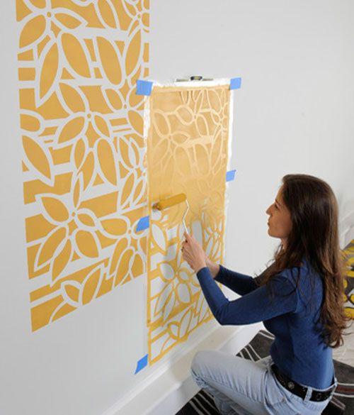 Трафарет для украшение стен своими рукам