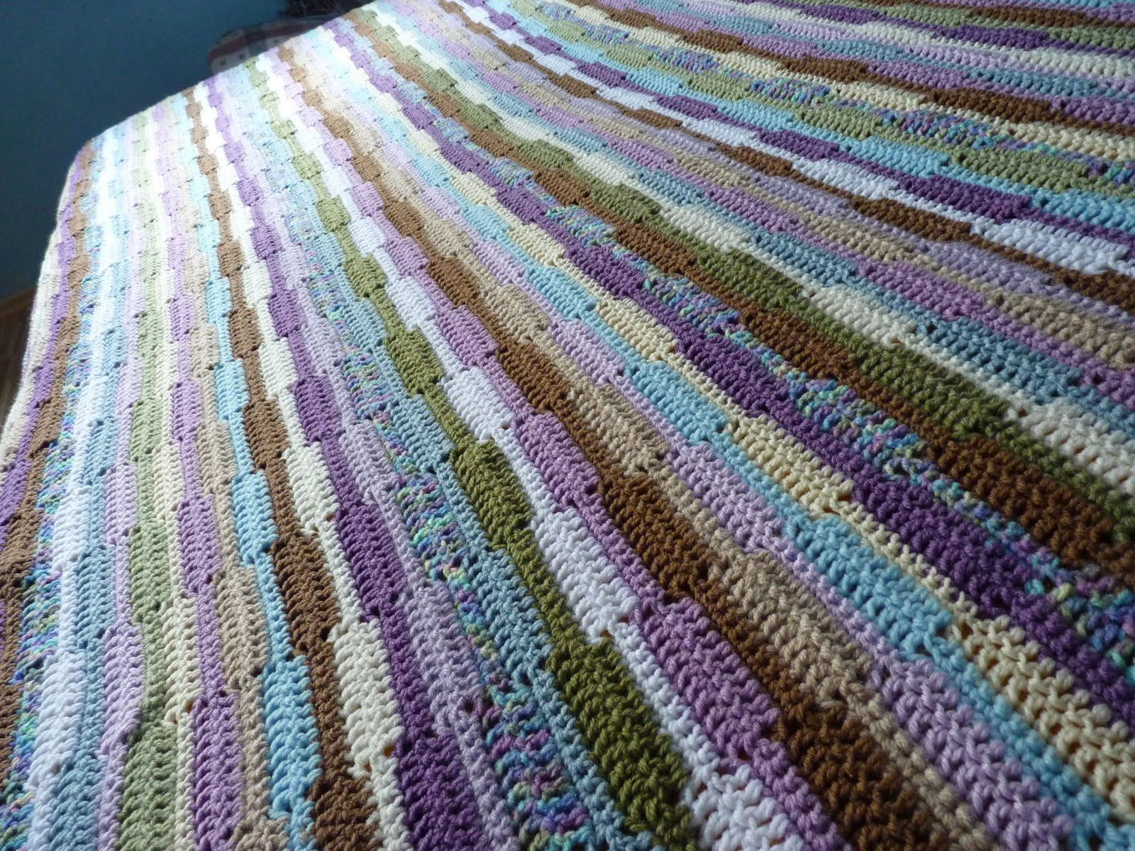 This afghan was something I came up with because I wanted a very ...