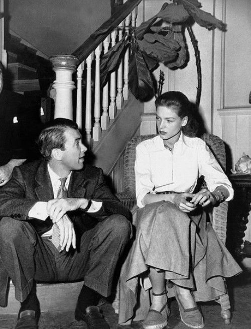 Jimmy Stewart With Lauren Bacall On The Set Of Key Largo 1948 Film Noir Film Cinema