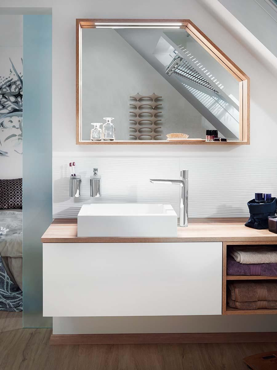 Badezimmermöbel Discount Light Colours And A Wood Décor Give The Functional Wash Basin A