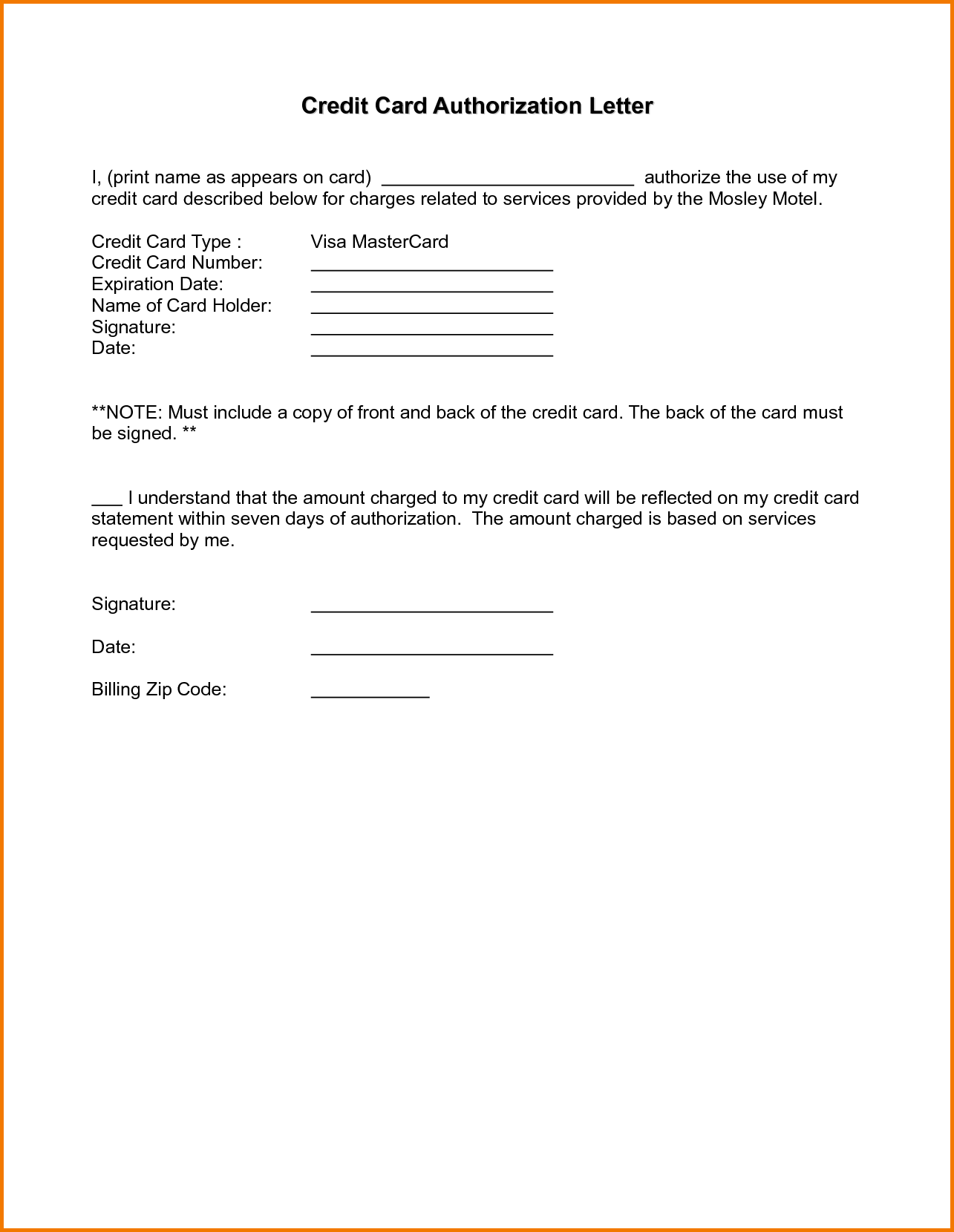 Authorization Letter Sample Passport Free Documents