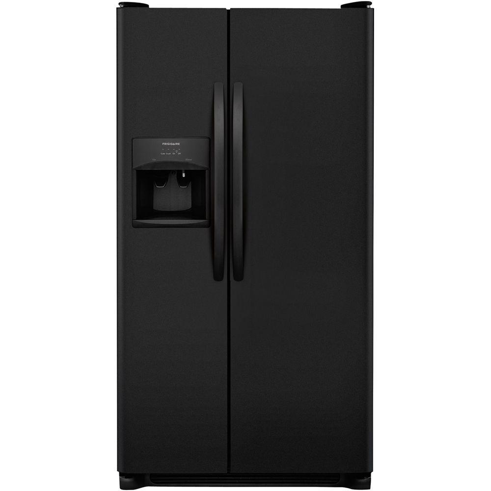 Frigidaire 25 6 Cu Ft Refrigerator Ebony Side By Side