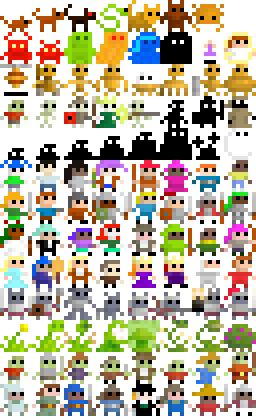 pixel art 8 x 16