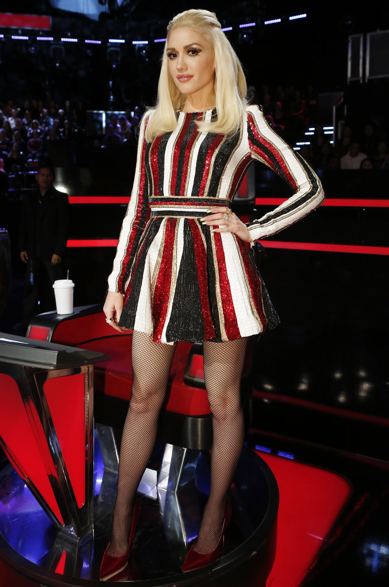 6393ff54110367 Gwen Stefani s Best Fashion Moments from Season 9 of The Voice - HOLIDAY  STYLE - from InStyle.com