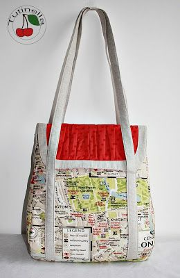 Joanna Made This Awesome Version Of The Petrillo Bag Sewing Pattern Using London Map Fabric