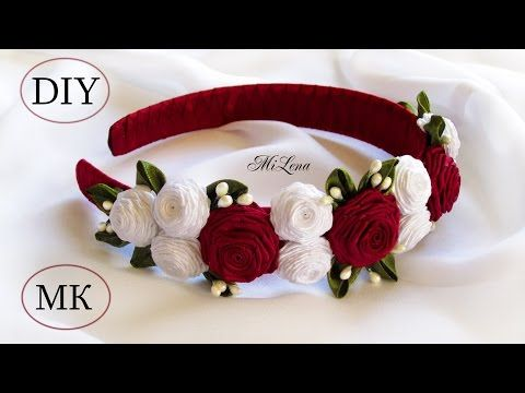 DIY Learn How to Make Beaded Kanzashi Necklace | Ribbon Accessories Wedding Jewelry Accessories - YouTube