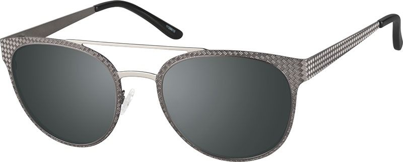 138866e4aa Zenni Round Rx Sunglasses Gray Stainless Steel 1128612