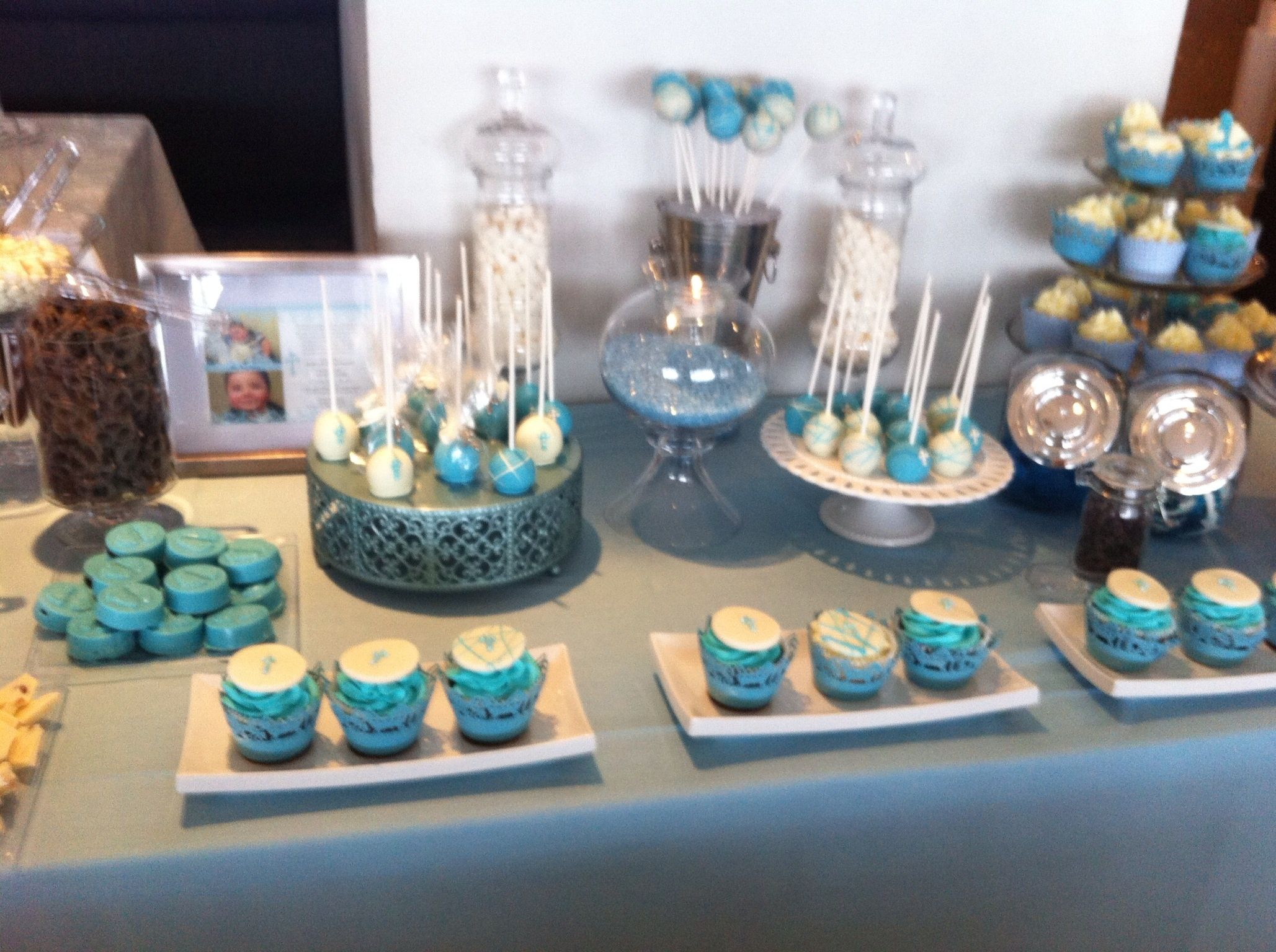 Baby Blue Candy Bar For A Baptism Baby Boy Baptism Blue Baby Boy Baptism Blue Candy Bars Boy Baptism
