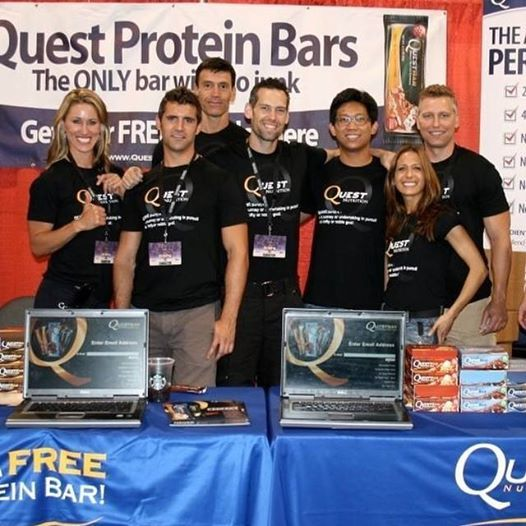 #FlashbackFriday from Quest Nutrition President Tom Bilyeu.  They say friends are the family that you choose. This crew is definitely family. #FBF to the group that started it all. #OnaQuest