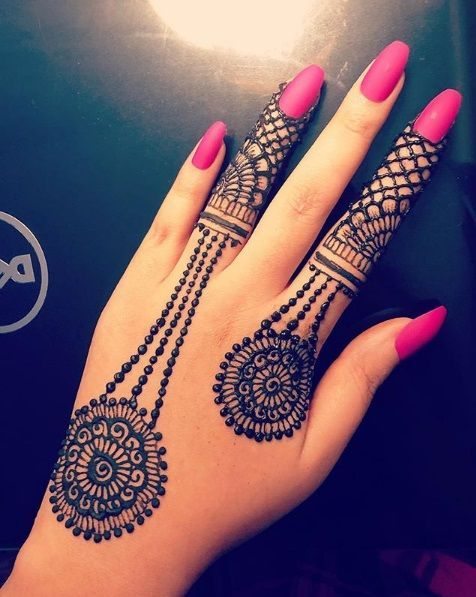 Backside Hand\u0027s Mehndi Design