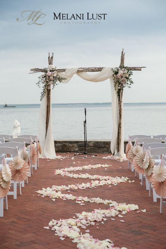 Ceremony At The Beach Wee Burn Country Club Darien CT Wedding Diy Arch