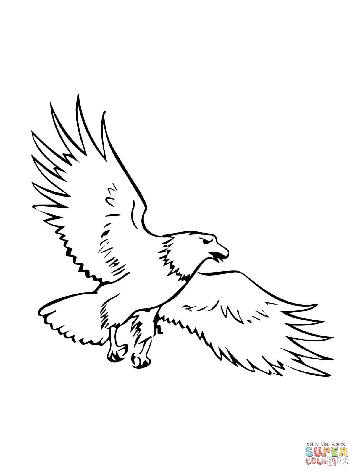 Free Eagle Coloring Pages With Bald | Coloring For Kids | Pinterest ...