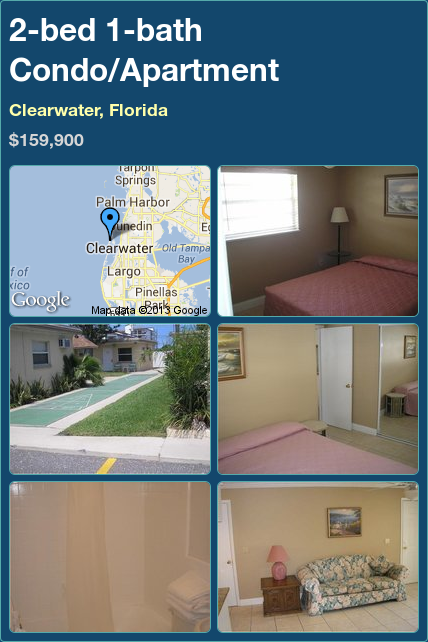 2-bed 1-bath Condo/Apartment in Clearwater, Florida ►$159,900 #PropertyForSale #RealEstate #Florida http://florida-magic.com/properties/8737-condo-apartment-for-sale-in-clearwater-florida-with-2-bedroom-1-bathroom