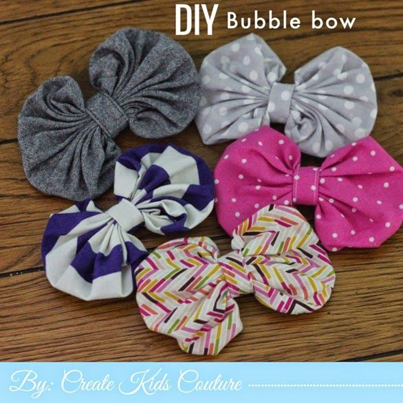 Create Kids Couture: 16th Day of Christmas: DIY Bubble Bow ...