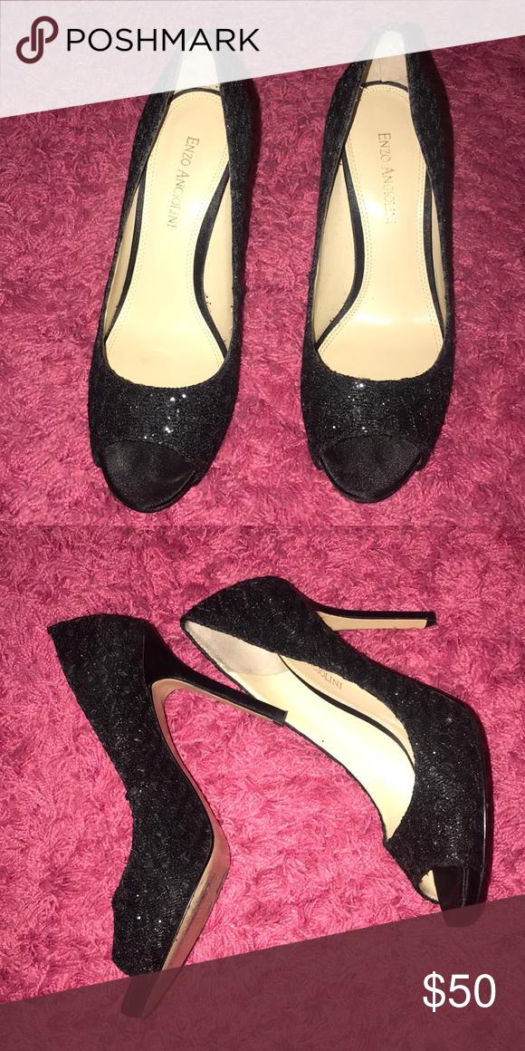 d5323f03ed82 Enzo Angiolini Sparkle Peep-Toe Pumps Enzo Angiolini Sparkle Peep-Toe Pumps  - WORN ONCE ! Enzo Angiolini Shoes Heels