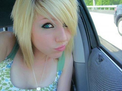 Short Blonde Emo Haircuts