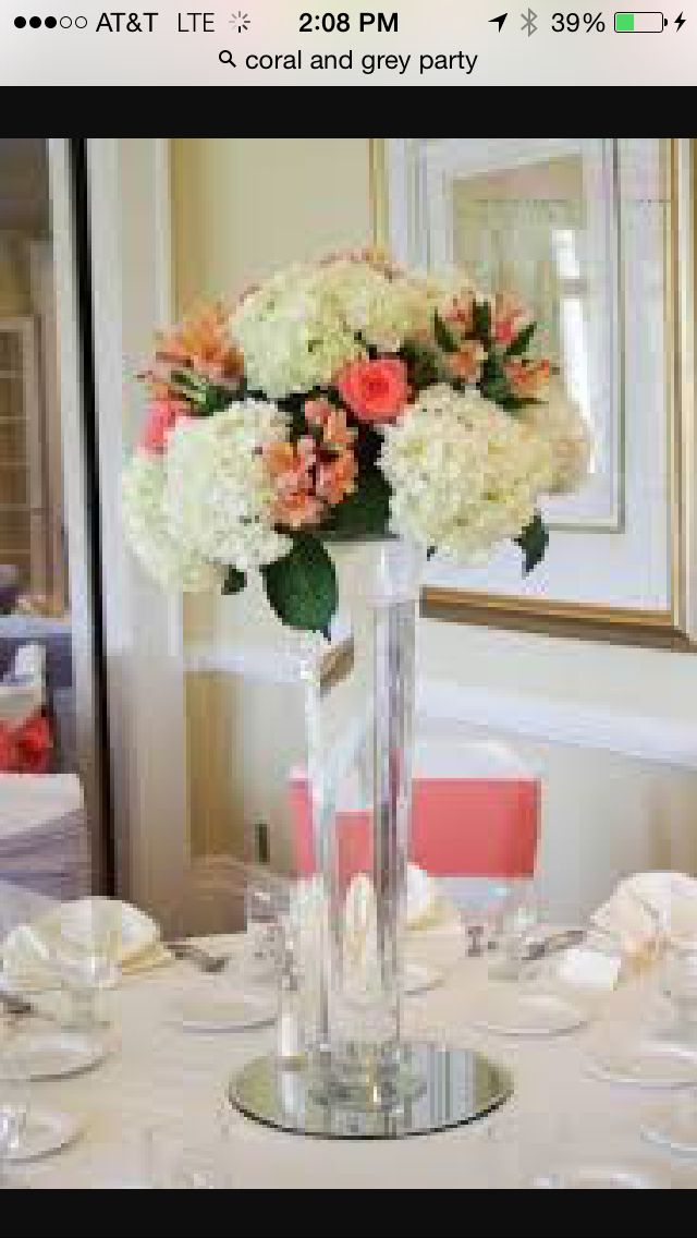 Centerpiece With Glass Underlay Swan Lake Xv Calla Lily Wedding