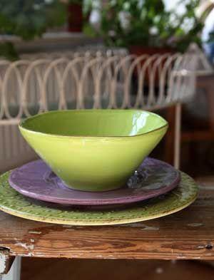 RICE Italiensk frukostskål - Limegrön - liten