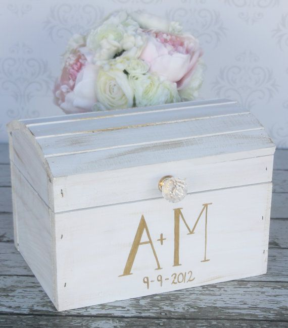 Wedding Card Box Vintage @Jess Pearl Liu Langley I like the letters being bold on one side and skinny on the other. :)