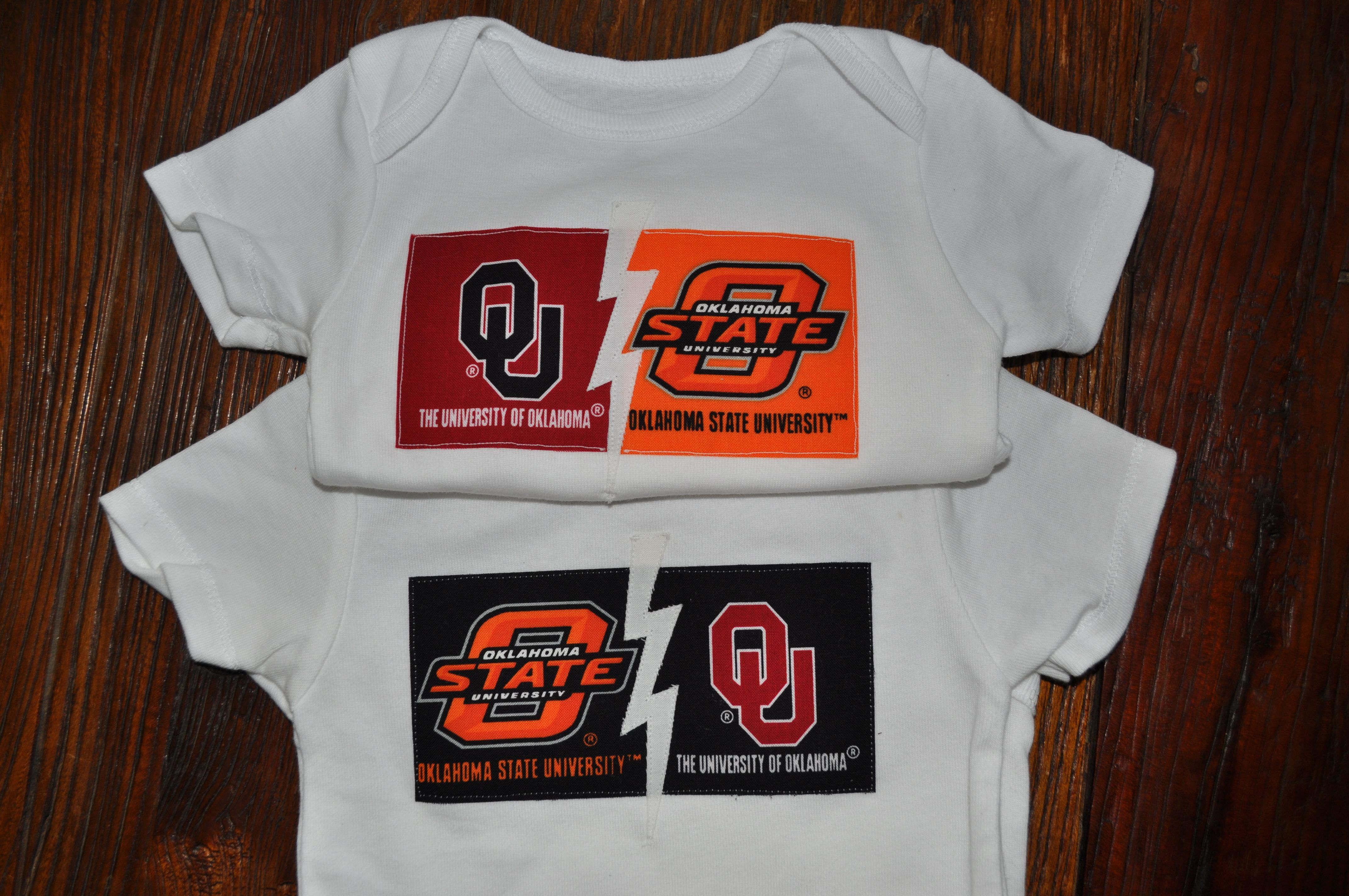 33cde115b bedlam ou vs osu onesie. my child will have this. | RN | Mens tops ...