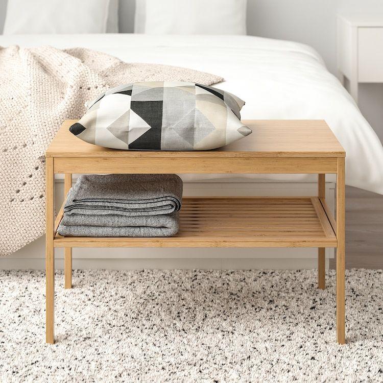 NORDKISA Banc, bambou - IKEA en 2020 | Meuble bambou, Meubles de rangement, Mobilier de salon