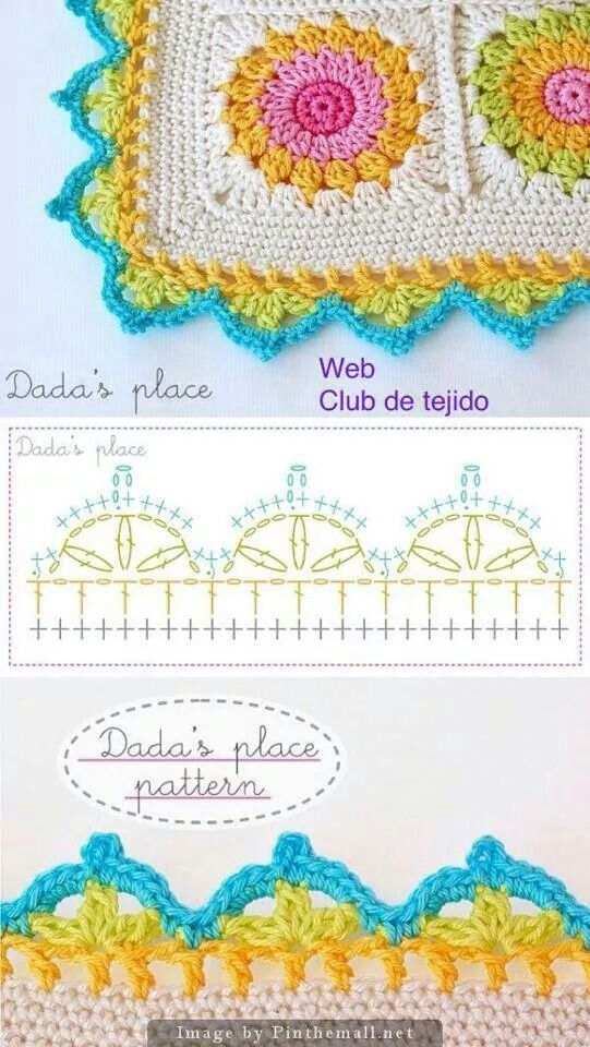 Orilla Crochet Patrones Pinterest Chart Crochet And Crochet