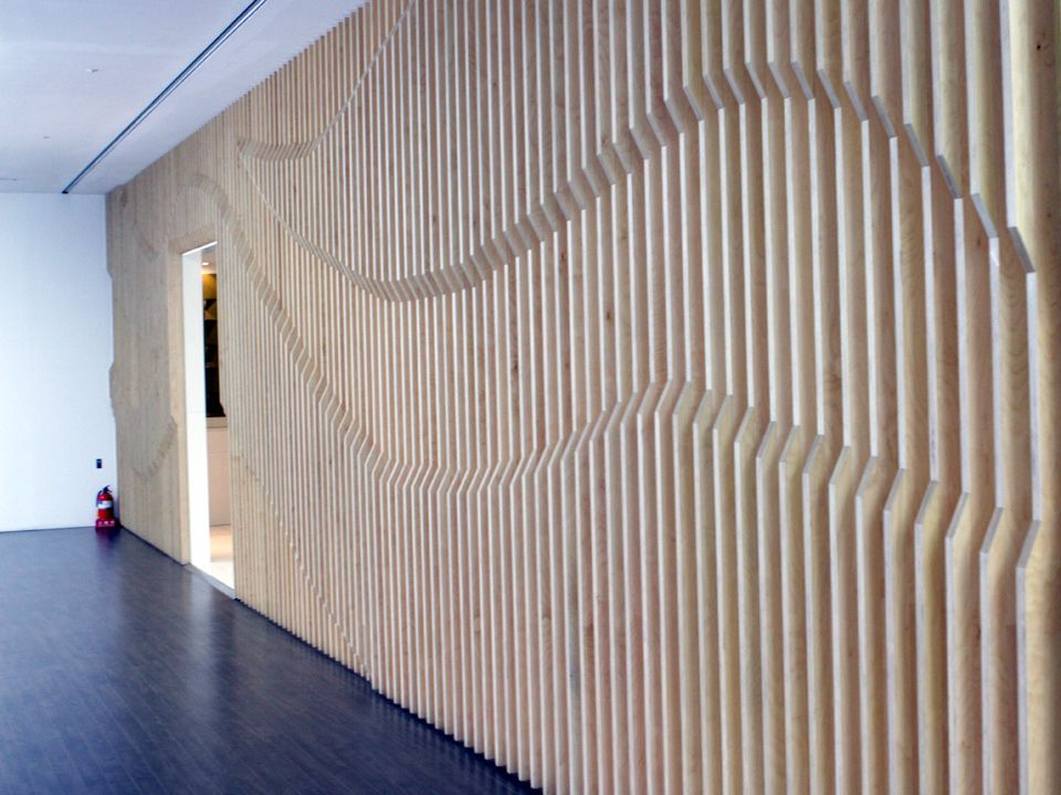 Dynamic 3D wall graphic Kring Timber Graphic Environmental