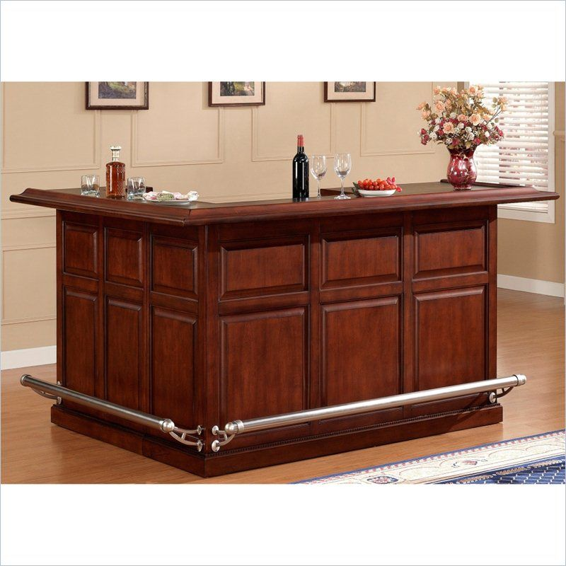 AHB Catania Return Bar - Navajo - With glass stemware holders, a wine  bottle storage rack, locking cabinets, an ice bucket and more, this AHB  Catania Home ...