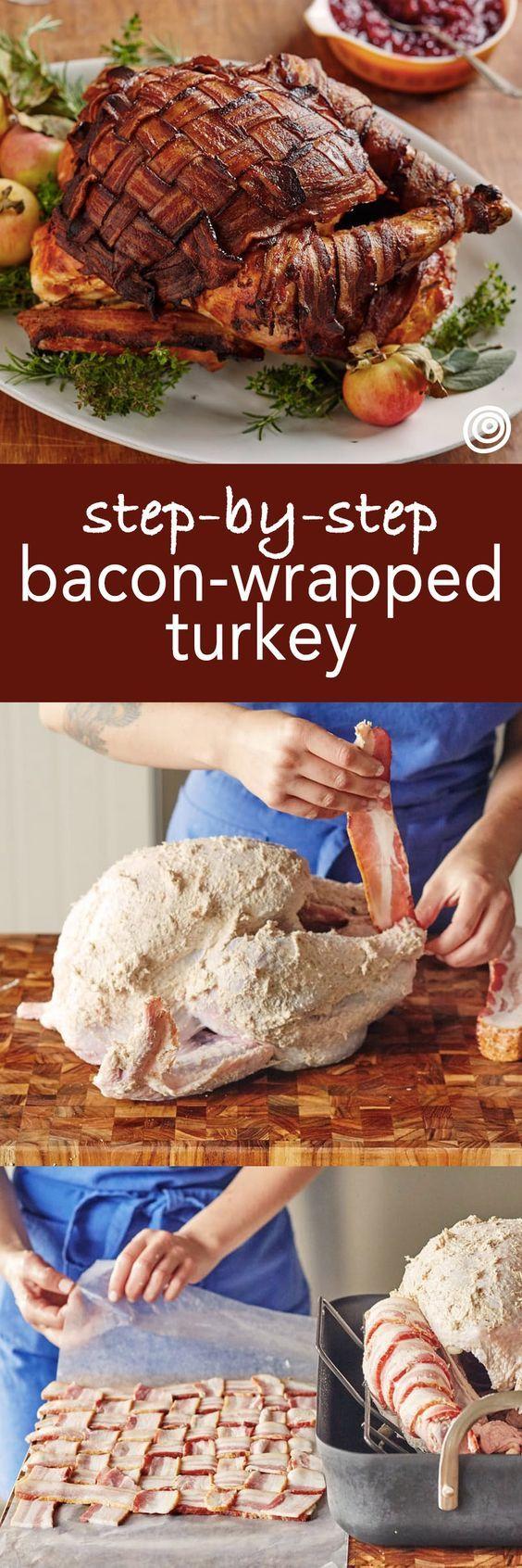 How To Make a Bacon-Wrapped Turkey | Recipe | Turkey ...