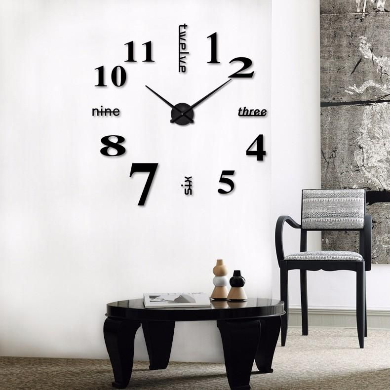Diy Large Modern Decal Wall Clock For Home Decor Promote Your