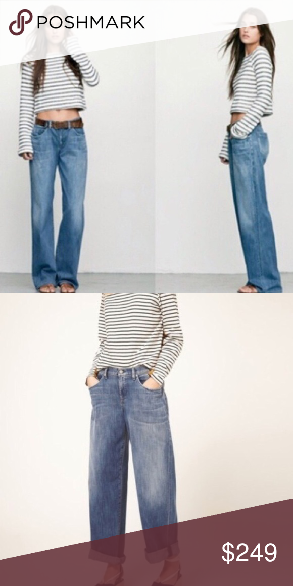 """COH Fusion Billow Wide Leg Boyfriend Jeans 30 $278 Size 30, inseam is 30"""", these are a super rare find, so awesome with sneakers, sandals, wedges etc! From a non smoking house Citizens of Humanity Jeans Boyfriend"""