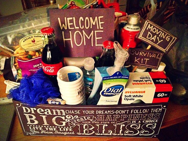 welcome home gift basket ʆѳѵɛʆy pʀɛรรiɛร pinterest gift