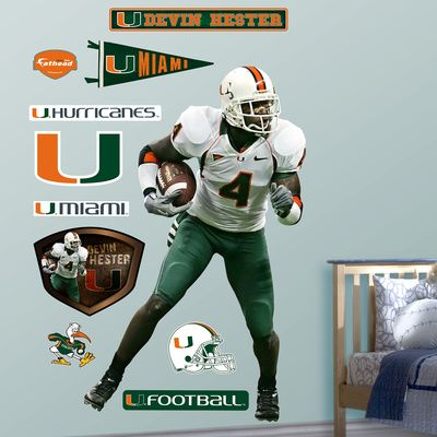 NCAA NFLPA Miami Hurricanes Devin Hester Wall Decal Sticker Devin Hester 0a335b6bc