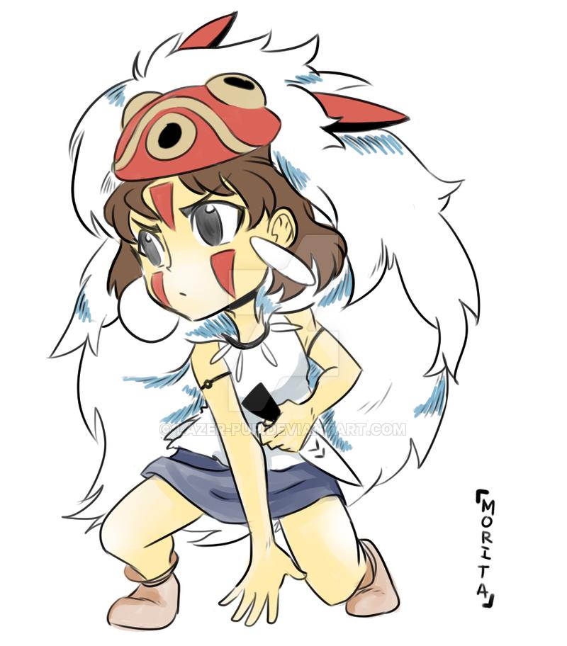 Mononoke Hime Print By Lazer Pup On Deviantart Studio Ghibili 3