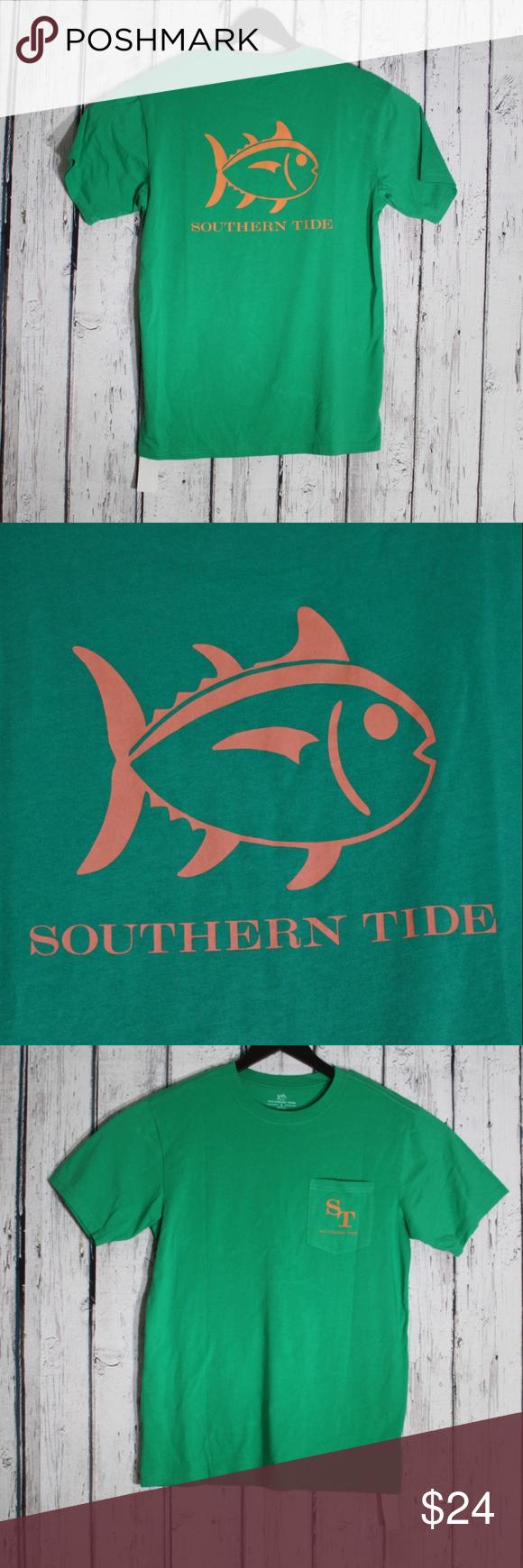 Southern Tide Skipjack Logo Pocket T Shirt Small Southern Tide Pocket Tshirt Tide