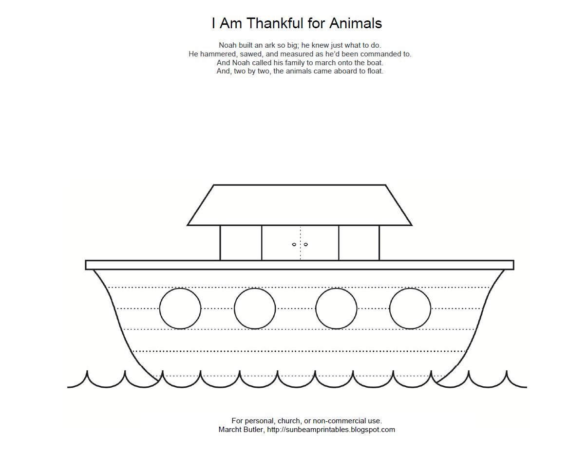 Animal Printouts For Noah S Ark Noah S Ark Coloring Page For Lesson 12 I Am Thankful For Animals Noahs Ark Preschool Noahs Ark Noahs Ark Animals